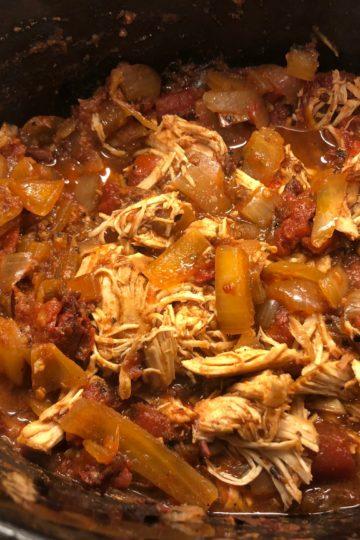 Crockpot Chicken Tinga