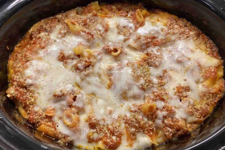 Crock Pot Baked Ziti