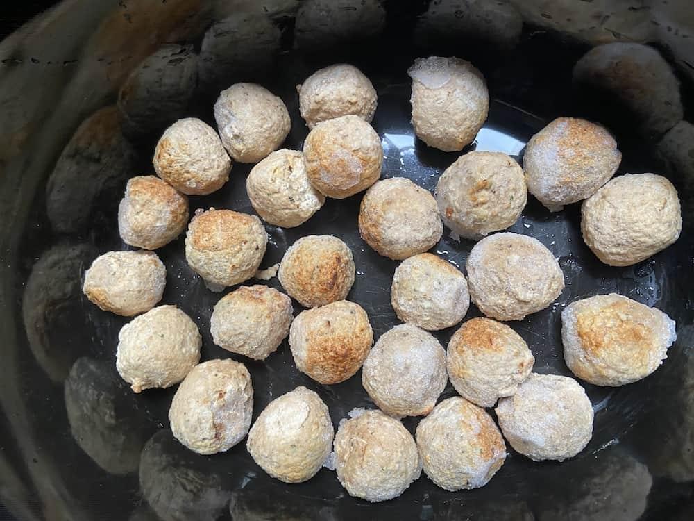 Crockpot Cranberry Meatballs