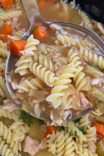 Crock Pot Turkey Noodle Soup