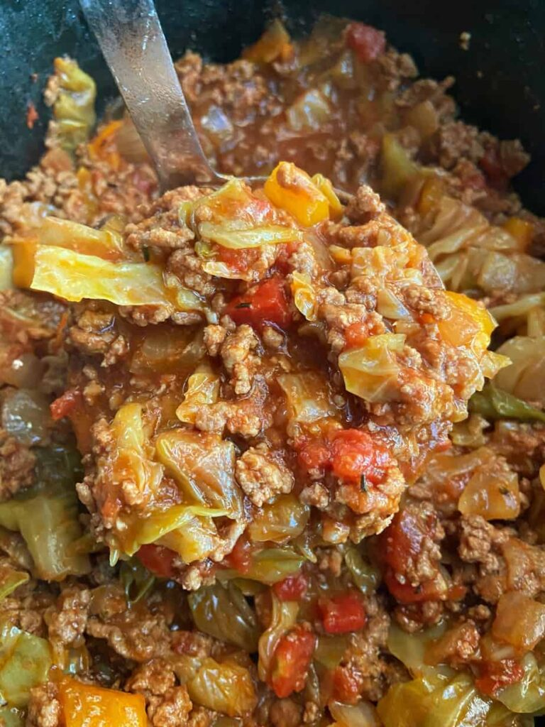 Slow Cooker Unstuffed Cabbage Rolls
