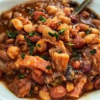 Slow Cooker Ham and 15 Bean Soup
