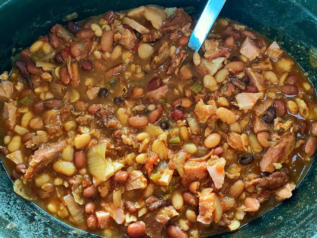 Slow Cooker 15 Bean Soup and Ham