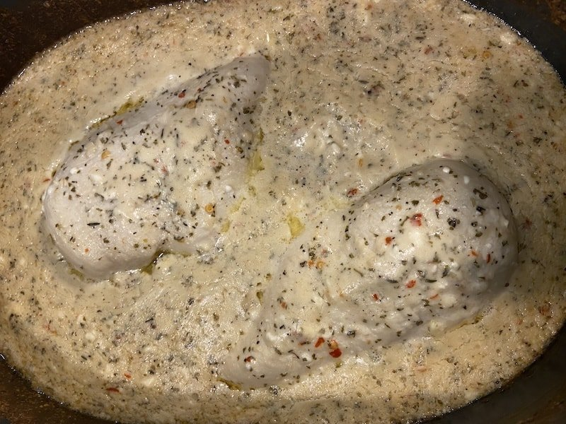 Crock Pot Garlic Parmesan Chicken Pasta