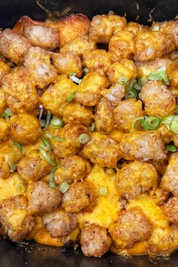 Slow Cooker Mexican Tater Tot Casserole
