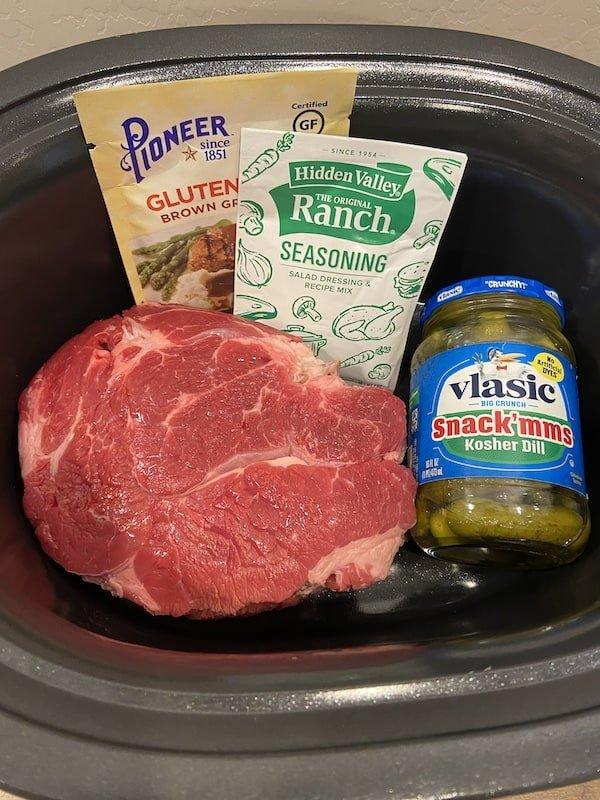 Crock Pot Dill Pickle Pot Roast